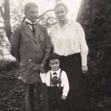 Wilhelm Pfeiffer mit Familie