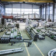 Werk III - Komplettierung, Lackierung und Versendung der Stahlmasten