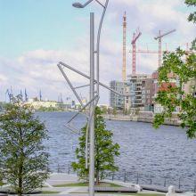 Designmasten in der Hafen-City Hamburg