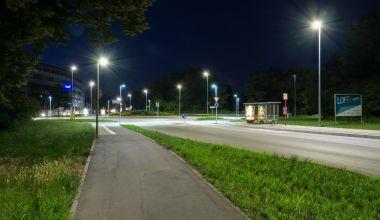 Der Kreisverkehr im Stadtteil Durlach